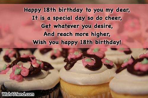 18th Birthday Wishes Page 2 – Birthday Greetings for 18th Birthday