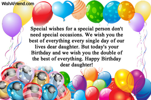 Birthday Wishes For Daughter Page 2 – Greetings of Birthday