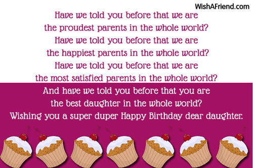 Birthday Wishes For Daughter Page 2 – Birthday Greetings for a Daughter from Mother