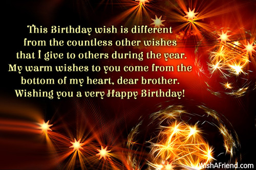 Birthday Wishes For Brother – Birthday Greetings for Brother