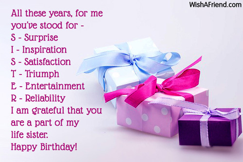 Birthday Wishes For Sister Page 2 – Birthday Greeting for Sister