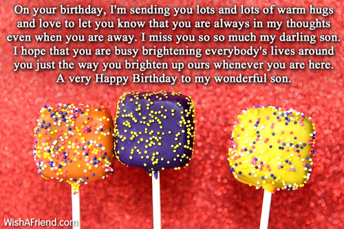 Birthday Wishes For Son Page 5 – Birthday Greetings to Son