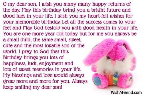 Th Birthday Card Messages Son ~ Son birthday messages