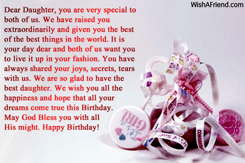 Daughter Birthday Messages Page 5 – Birthday Greeting for a Daughter
