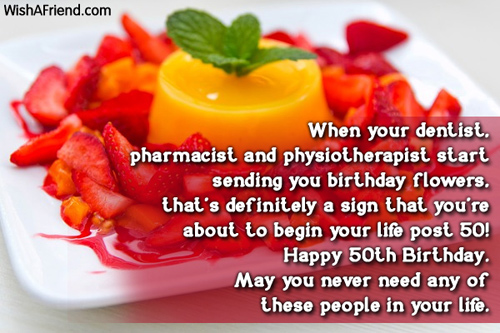 50th Birthday Wishes – 50th Birthday Greetings Messages