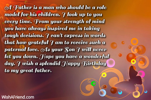 dad birthday messages  page, Birthday card