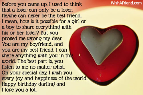 Birthday Wishes For Boyfriend Page 3 – Birthday Greetings to a Lover