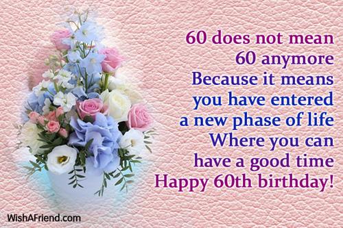 60th Birthday Wishes – 60th Birthday Greetings Sayings