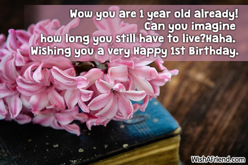 1st Birthday Wishes – Birthday Greetings for 1 Year Old