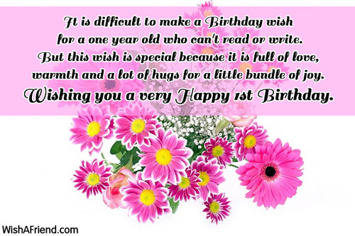 1st Birthday Wishes Page 2 Happy Birthday Wishes For A 1 Year