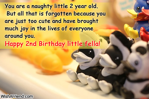 Birthday Quotes For A 3 Year Old Son : Happy nd birthday baby boy quotes