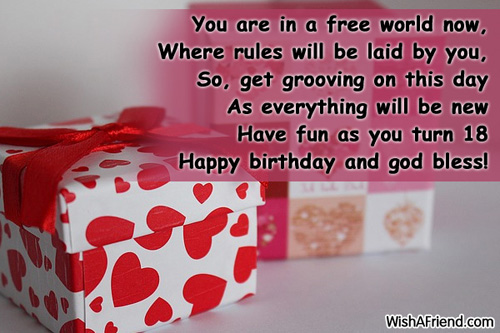 18th Birthday Wishes Page 3 – Birthday Greetings for 18th Birthday
