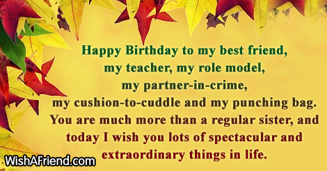 Birthday Wishes For Sister – Happy Birthday Greetings for Sister