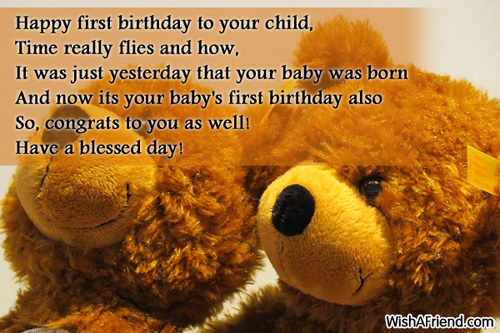 Birthday Wishes For A Child Sandropainting – First Birthday Greeting Messages