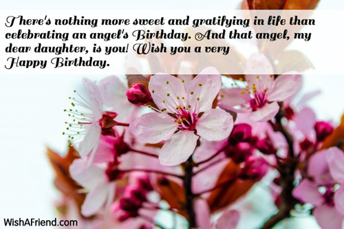 Daughter Birthday Messages – Birthday Greeting for a Daughter