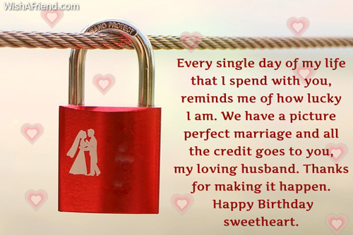 Husband Birthday Messages – First Birthday Greeting Messages