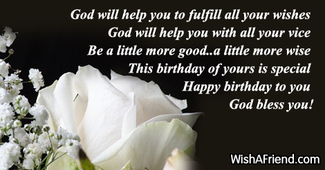 Christian Birthday Wishes Page 3 – Birthday Greeting Christian