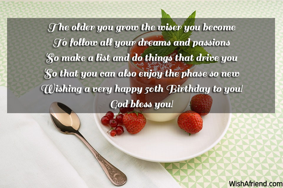 50th Birthday Wishes – Birthday Greetings for 50th Birthday