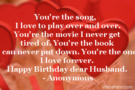 you 39 re the song i love to birthday quote for husband