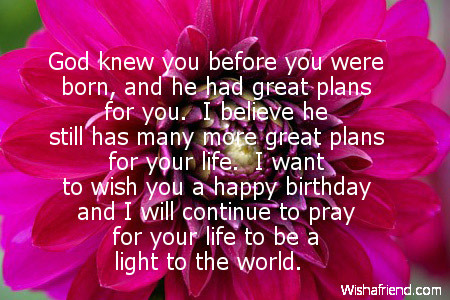 Religious Birthday Quotes – Birthday Greetings Religious