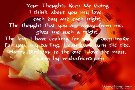 Love Birthday Poems – Birthday Greetings to a Loved One