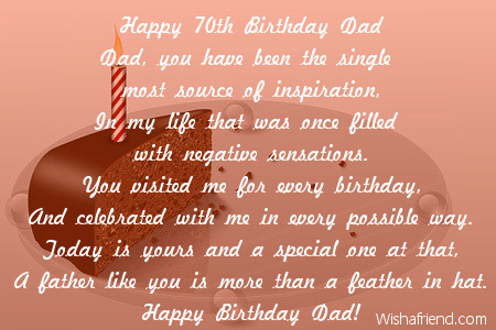 happy 70th birthday dad dad birthday poem