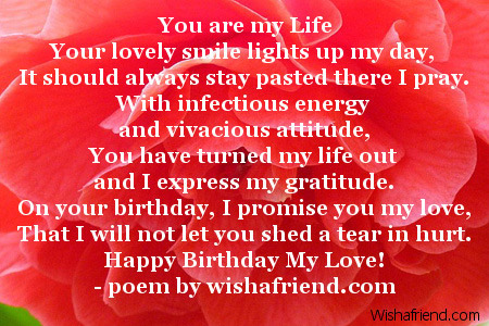 birthday poems girlfriend
