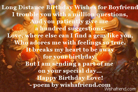 Boyfriend Birthday Poems – Birthday Greetings to a Lover