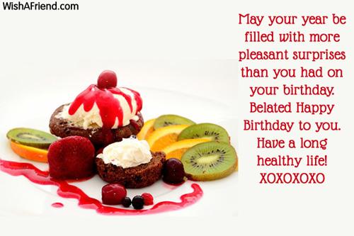 Belated Birthday Greetings – Greetings of Birthday
