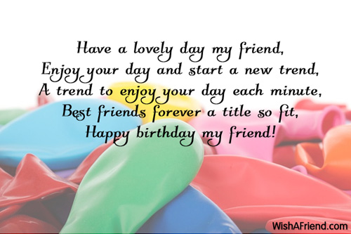 Birthday Wishes For Friends Page 5 – Friend Birthday Greetings