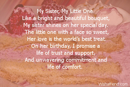 my sister s birthday essay Examples of birthday messages to write for your brother or sister's card brothers and sisters can have funny or sincere birthday card messages.