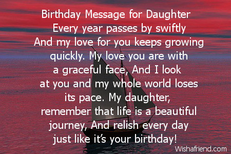 Daughter Birthday Poems – Daughter Birthday Card Messages