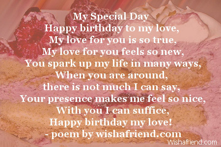 Happy Birthday To The Love Of My Life Poems Happy birthday to my love,