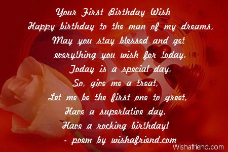 Boyfriend Birthday Poems – Birthday Greeting for Boyfriend