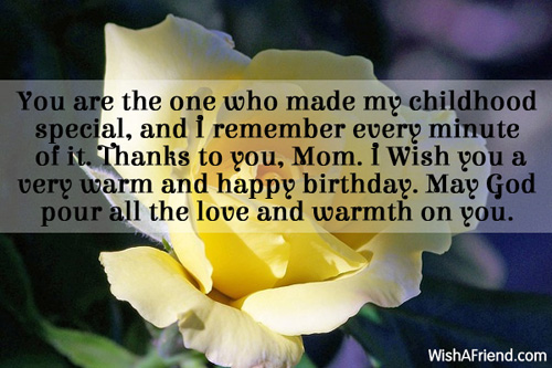 Birthday Wishes For Mom – Mom Birthday Greetings