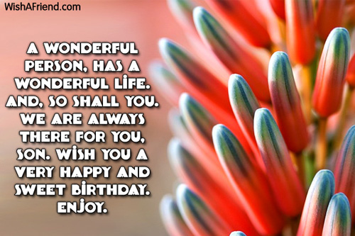 Son Birthday Messages – Birthday Greetings to Son