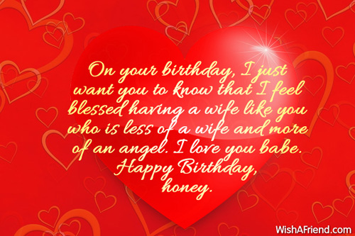 birthday wishes for wife, Birthday card