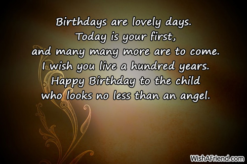 Baby Girl 1St Birthday Card Messages sciencewikisorg – First Birthday Card Messages