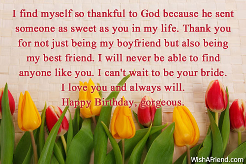 Birthday Wishes For Boyfriend – Birthday Greetings to a Lover
