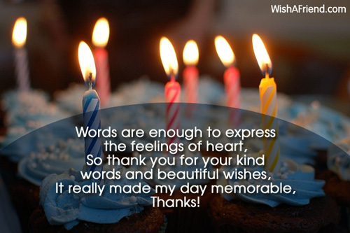 Thanks For Good Wishes Quotes: Thank You For Birthday Wishes Quotes. QuotesGram
