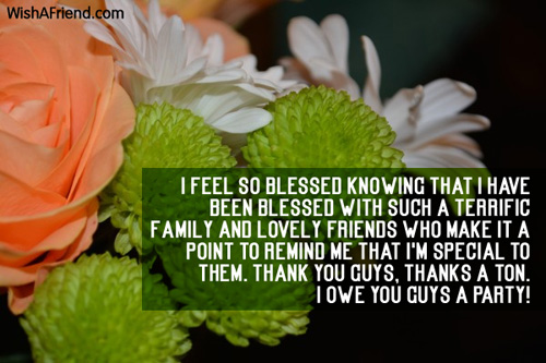Thank You For The Birthday Wishes – Thank You Greetings for Birthday Wishes