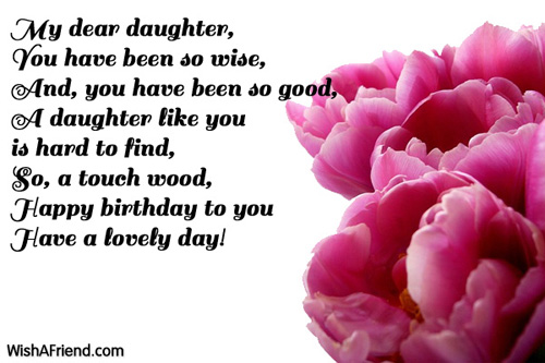 Birthday Wishes For Daughter Page 3 – Birthday Greeting for a Daughter