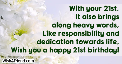 st birthday sayings, Birthday card