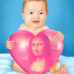 Cute Baby with Heart
